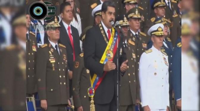 NICOLÁS MADURO SUFRE ATENTADO TERRORISTA 7 MILITARES RESULTARON HERIDOS.