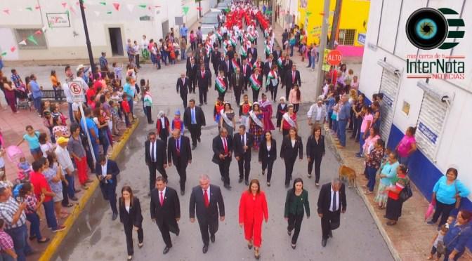 REALIZAN DESFILE CONMEMORATIVO AL 208 ANIVERSARIO DE LA INDEPENDENCIA DE MÉXICO EN GENERAL TERÁN N.L.