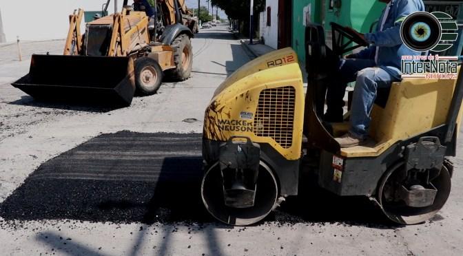 CAMPAÑA DE BACHEO PERMANENTE CONTINUA EN CALLES DE LA ZONA CENTRO DEL MUNICIPIO DE CADEREYTA.
