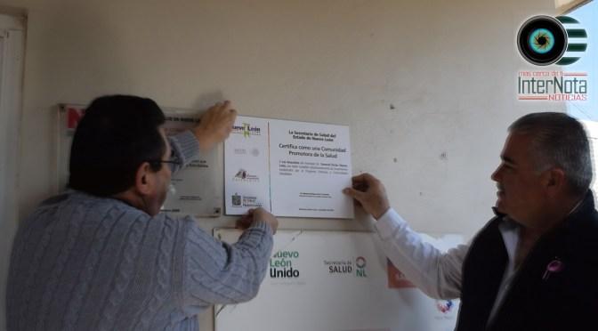 CERTIFICAN A LA COMUNIDAD DE ANACUITAS DE GRAL. TERÁN POR SER PROMOTORA DE SALUD