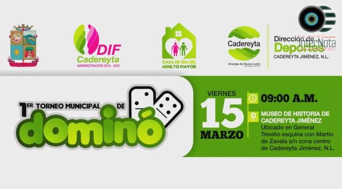 INVITAN A PRIMER TORNEO MUNICIPAL DE DOMINO EN CADEREYTA