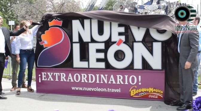 INSTALAN INSIGNIA DE NUEVO LEÓN EXTRAORDINARIO EN BOSQUE MÁGICO Y CONOCE LAS PROMOCIONES VACACIONALES.
