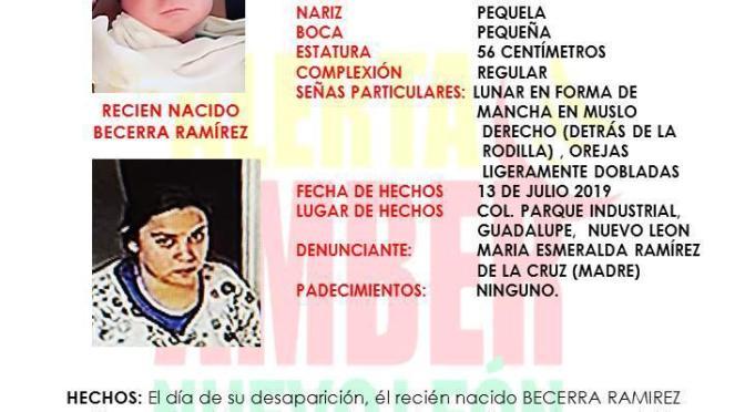 #ALERTA ROBAN BEBE RECIÉN NACIDO