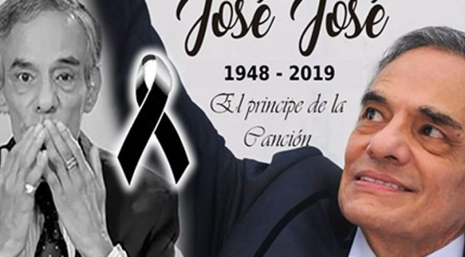 CONFIRMAN LA MUERTE DE JOSÉ JOSÉ EL PRÍNCIPE DE LA CANCIÓN