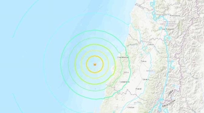 SE REGISTRA SISMO EN CHILE.