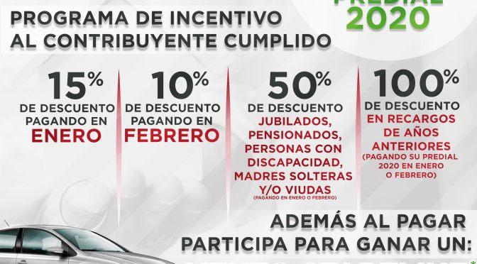 EL MUNICIPIO DE ALLENDE NL TE INVITA A APROVECHAR LOS DESCUENTOS EN EL PAGO PREDIAL 2020