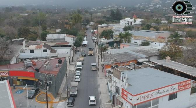 INAUGURAN OBRA EN CALLE MOLINEROS DE LA COMUNIDAD EL FAISÁN, SANTIAGO N.L.
