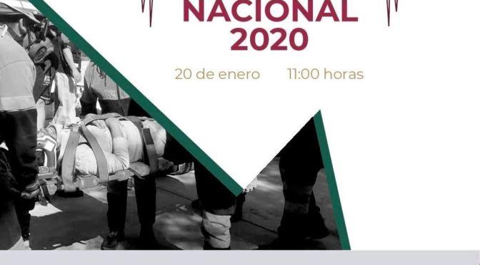HOY LUNES 20 DE ENERO A LAS 11:00 AM SE LLEVARÁ A CABO EL PRIMER #SIMULACRONACIONAL