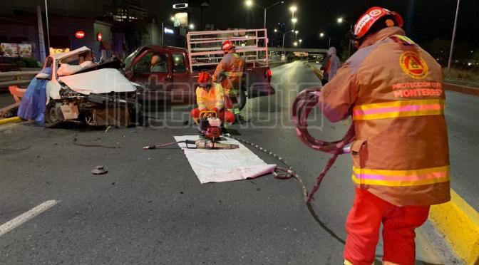 PAREJA FALLECE TRAS FUERTE ACCIDENTE.