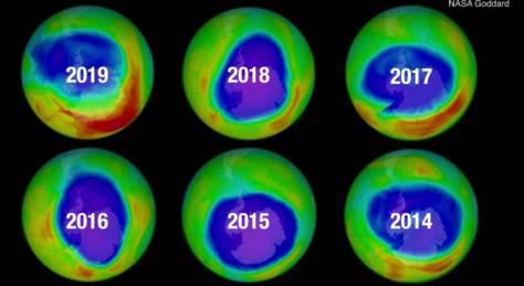 CIENTÍFICOS AFIRMAN QUE LA CAPA DE OZONO DE LA TIERRA SE ESTÁ CURANDO.