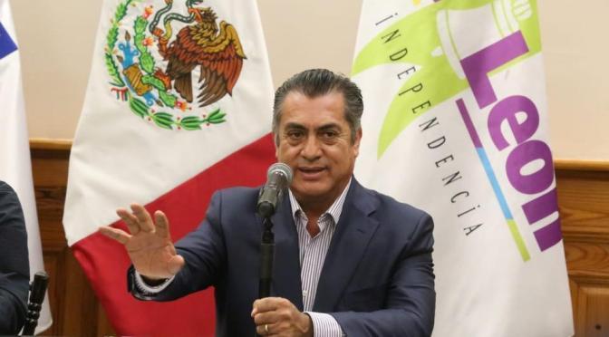 EL GOBERNADOR DEL ESTADO DE NUEVO LEÓN, JAIME RODRÍGUEZ EN RUEDA DE PRENSA DIO A CONOCER QUE SE SUSPENDEN ACTIVIDADES EN CINES CASINOS Y SALONES.