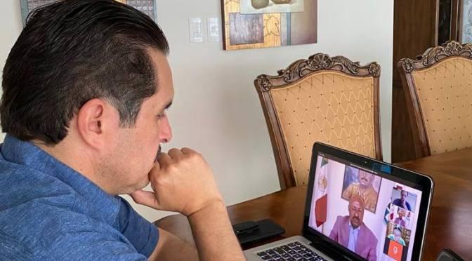 TRABAJANDO DESDE CASA, EL DIPUTADO FEDERAL POR EL DISTRITO 9 JUAN ESPINOZA EGUIA LLEVO A CABO UNA REUNIÓN VIRTUAL CON COMPAÑEROS DIPUTADOS DE SU BANCADA.
