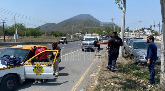 SE REGISTRA FUERTE ACCIDENTE VIAL