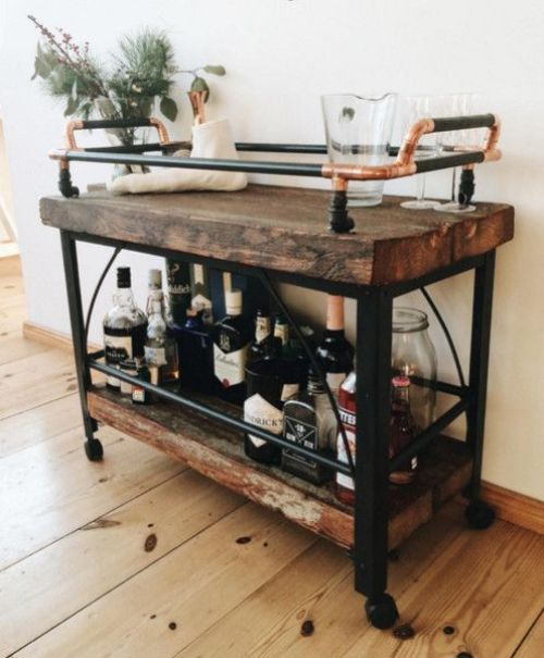 Get home decor inspirations with these bar cart decor ideas!