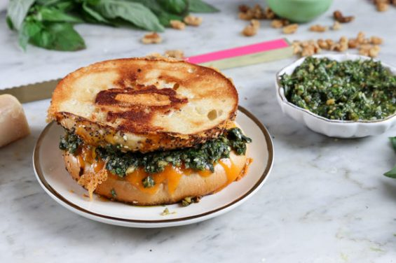 4. Za'atar & Pesto Bagel Grilled Cheese | 12 Creative Grilled Cheese Recipes You Never Thought Of Until Now