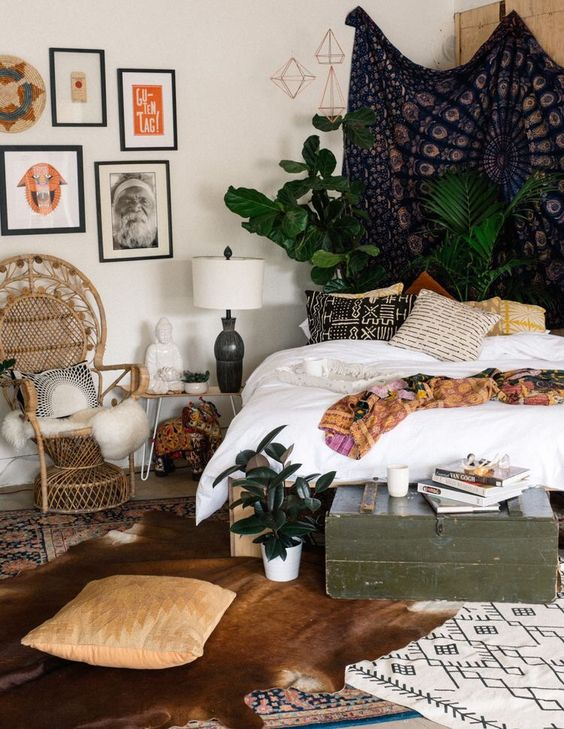 terrific cute bohemian bedroom ideas | 15 Bohemian Bedroom Ideas On A Budget