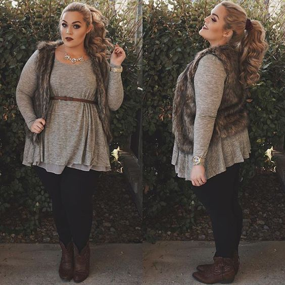 14e6c2283293 This is one of the plus size outfit ideas for fall that is cute and cozy