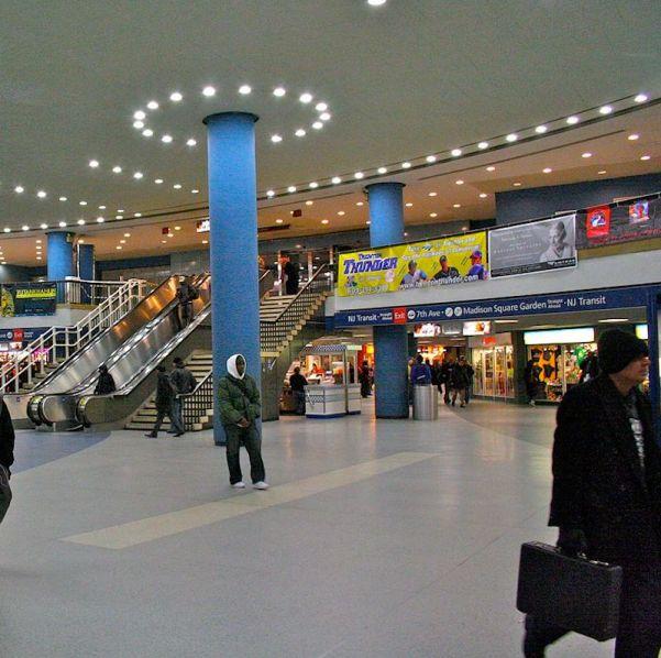 The inside of penn station