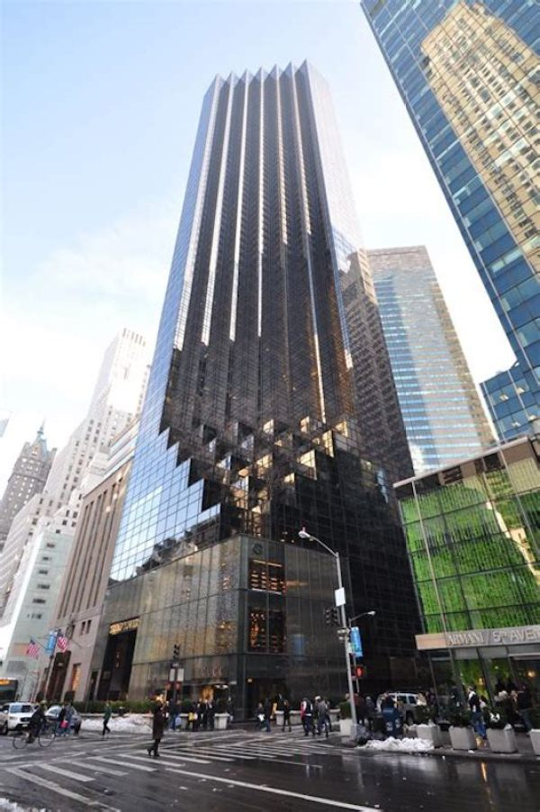 A street view of trump tower