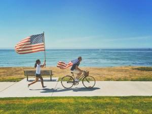 Hospitality internship USA flag