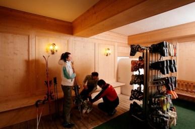 Ski room.