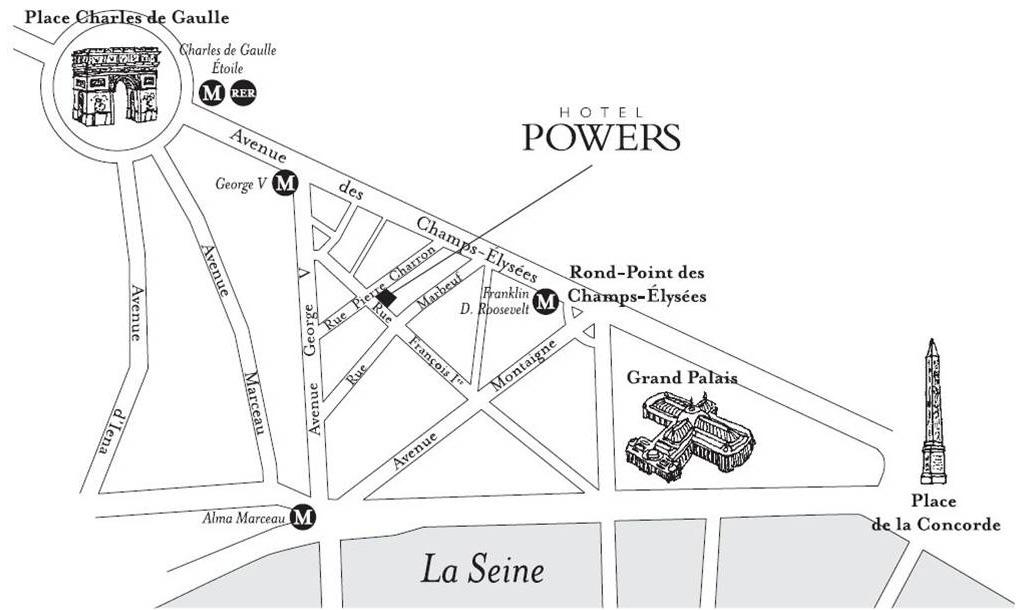 Hotel Powers Paris, mapa