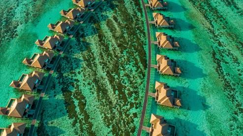 Vista aérea do complexo