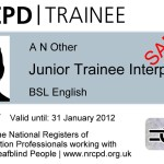 Junior Trainee Interpreter Badge