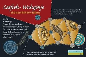 Flat Camp Catfish Aboriginal Signage
