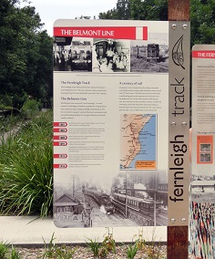 Rail History Signage, Fernleigh Track