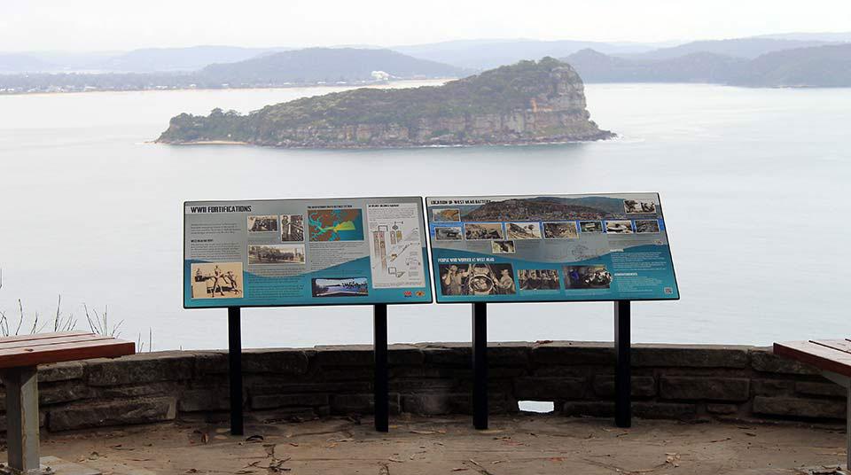 West Head historic signage