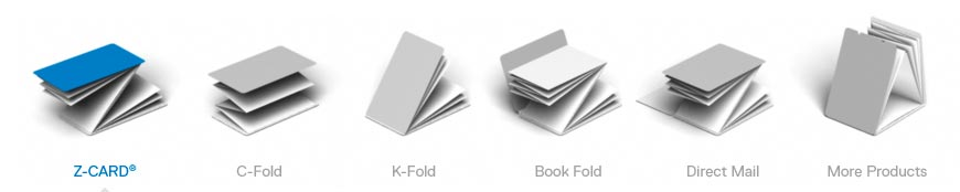 z-card folding formats