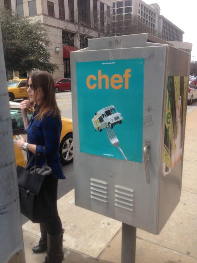 "Poster promoting Jon Favreau's film, ""Chef"""