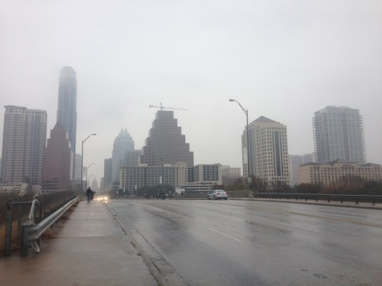 A cold, rainy day in downtown Austin for day 2 of SXSWi