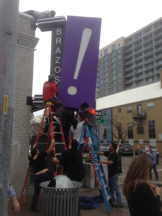 Preparing for the Yahoo! party in downtown Austin for SXSW