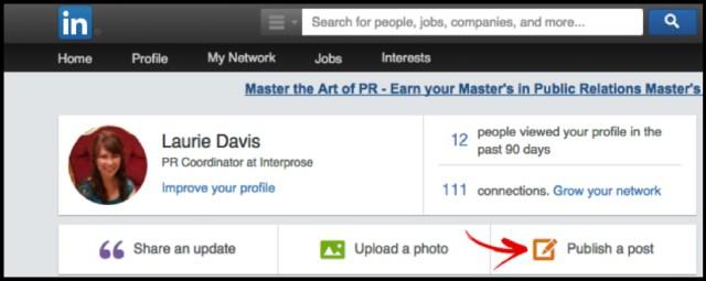 LinkedIn Pulse Publish Button