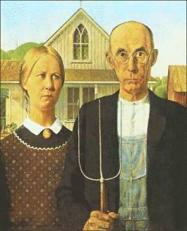 CC image American Gothic (Grant Wood) courtesy of uhuru1701 on Flickr