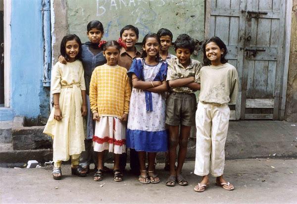 Crianças que Zana acompanhou