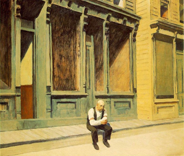 Sunday, 1926 por Edward Hopper