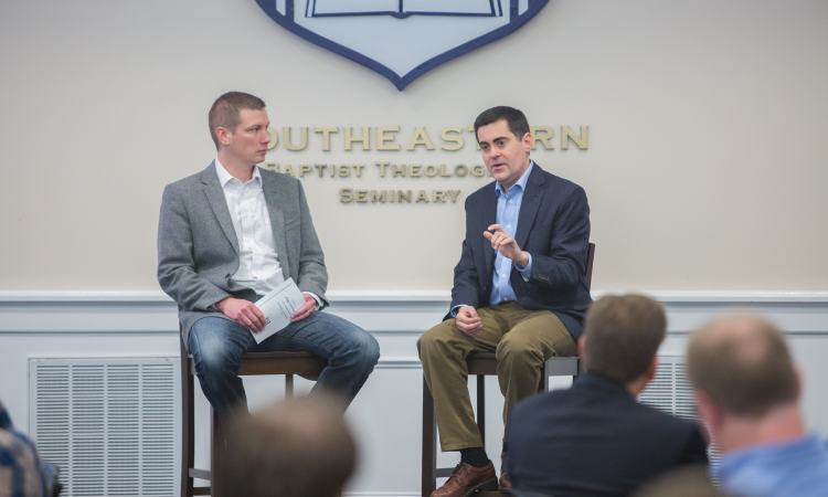 Russell Moore and Bruce Ashford at the Page Lectures