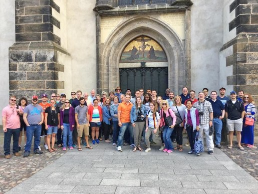 Southeastern Seminary professors, students, pastors and members of the Southeastern Society visit Wittenberg, Germany