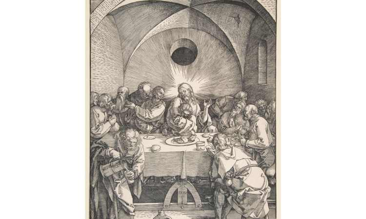 Albrecht's Last Supper (credit: https://www.metmuseum.org/art/collection/search/388402?searchField=All&sortBy=relevance&ft=durer+last+supper&offset=0&rpp=20&pos=6)
