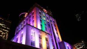 Houston City Hall illumination