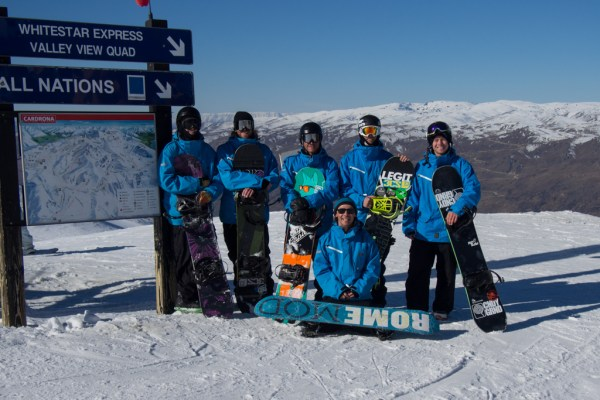 The SBINZ Interski Team of six, Sean Thompson, Rhys Jonesy, Richie Johnston, Dan Burton, Sam Smith and Keith Stubbs
