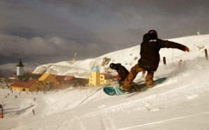 enjoying the riding on opening day at Cardrona