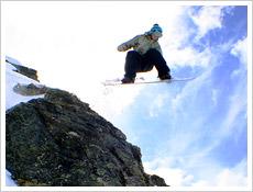 Claire Dooney sending a hefty rock drop