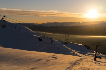 The day started well with a stunning sunrise at Cardrona - by Keith Stubbs