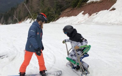 Sit Down Snowboarding with the Netherlands