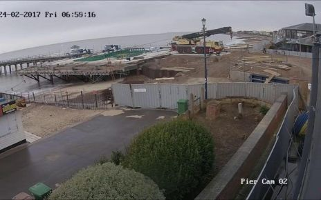 95299132 p04xspyj - Felixstowe Pier time-lapse shows reconstruction of 100-year-old structure