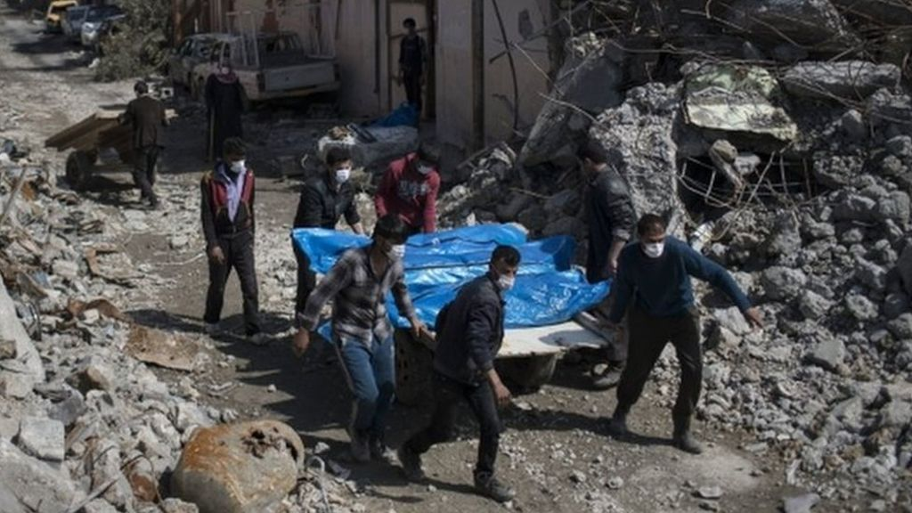 95311058 mosul - UN fears 200 died in coalition airstrike on Mosul